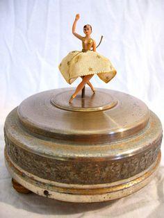 vintage ballerina music box