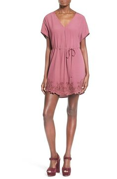 ASTR ASTR 'Heart of Gold' Contrast Hem Tunic Dress available at #Nordstrom