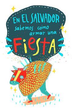 Torito Pinto on Behance   Project by Sonia Lazo   En El Salvador sabemos como armar una fiesta