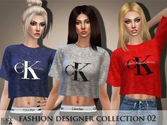 The Sims 4 Fashion Designer Collection 02 Js Sims 4, Sims 4 Tsr, Sims Four, The Sims 4 Skin, Sims 4 Clothing, Clothing Sets, Sims4 Clothes, Aesthetic Shirts, Sims 4 Cc Packs