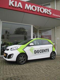 wrapped in carbonwhite plus logo Kia Picanto, Van Signage, Wrap Advertising, Vehicle Signage, Commercial Van, Van Car, Car Signs, Kia Motors, Small Trucks