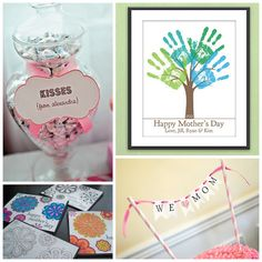 Mother's Day DIY with a little help from downloadable printables from Etsy.