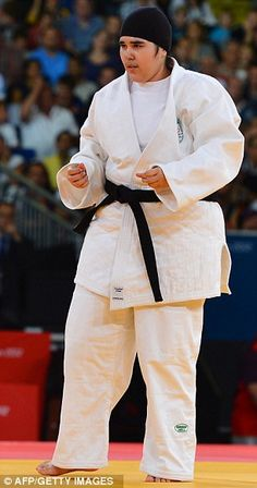 The Saudi judoka Wojdan Shaherkani, 16, who was embroiled in a political and religious row in her home country before being allowed to compete