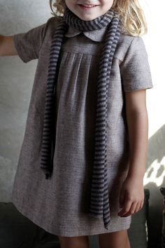 .love this litte dress and scarf for a little girls outfit!