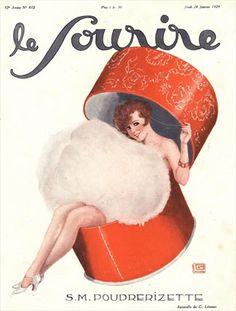 1920's powder puff advert. No one really calls it powder anymore.