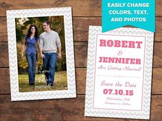 Creating a beautiful save-the-date card for your clients is easy with the help of this Photoshop template. Card Templates Printable, Wedding Card Templates, Diy Save The Dates, Save The Date Cards, Wedding Fonts, Wedding Cards, Photoshop Actions For Photographers, Bay Photo, Save The Date Templates