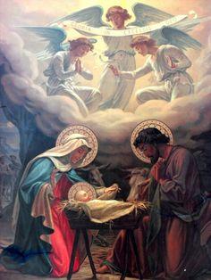 Nativity of Jesus Christ Catholic Art, Religious Art, Apostles Creed, Vintage Holy Cards, Jesus Christus, Mary And Jesus, O Holy Night, Holy Mary, Jesus Pictures
