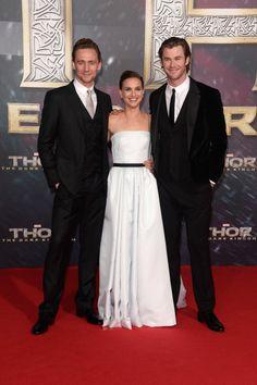 Natalie Portman, Chris Hemsworth, and Tom Hiddleston all shared the spotlight at the German premiere of Thor: The Dark World.