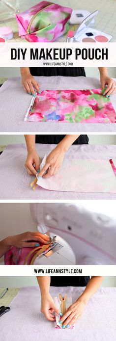 DIY EASY MAKE-UP POUCH | Learn how to make this cute makeup storage pouch