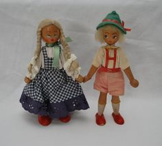 Polish Wooden Dolls - Hansel and Gretel - by LostPropertyVintage, £15.00