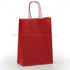 Premium Papiertragetaschen mit Kordelgriffen kirschrot