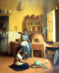 cuadros de pintura cocinera antigua - Buscar con Google