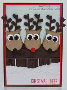 Stampin' Up! UK Demonstrator - Teri Pocock: Owl Punch Reindeer!                                                                                                                                                                                 More