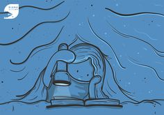 Reading tales at night on Behance