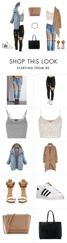 """""""Untitled #36"""" by bothasj on Polyvore featuring Forever 21, Topshop, Harris Wharf London, adidas, Furla, MANGO and Marchesa"""