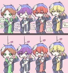 埋め込み Anime Guys, Manga Anime, Anime Art, Vocaloid, Akatsuki, Anime Couples, Love Story, Chibi, Kawaii
