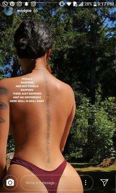 Back Tattoo Chakren Red Ink Tattoos, Dope Tattoos, Dream Tattoos, Future Tattoos, Body Art Tattoos, Girl Spine Tattoos, Back Tattoo Women Spine, Hip Tattoo Quotes, Script Tattoos