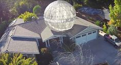 """Coolest Dad Ever Built a 400 lb """"Star Wars"""" Death Star Above His House"""