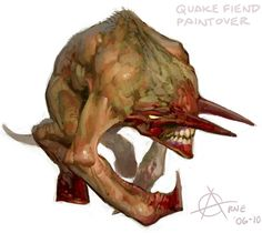 Beast monster character design - Quake 1 Fiend demon http://androidarts.com/kawaiik/kawaiik.htm ★ || CHARACTER DESIGN REFERENCES | キャラクターデザイン • Find more artworks at https://www.facebook.com/CharacterDesignReferences & http://www.pinterest.com/characterdesigh and learn how to draw: #concept #art #animation #anime #comics || ★