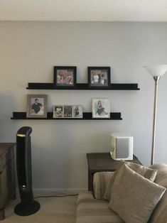 Picture ledges allow for changing up your pictures without damaging the walls.