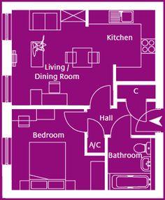 Flat 2, Skylark Apartments - 1 bedroom apartment on the first floor.