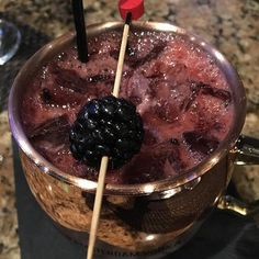 ❄️Despite the frigid cold in Boston today I'm dreaming about this  Royal Berry Mule from last night made with  New Amsterdam Berry Vodka, raspberry syrup, fresh berries, lime juice & ginger beer- SO GOOD!