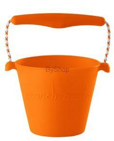 Scrunch bucket Zwijane wiaderko silikonowe Pomarańczowe