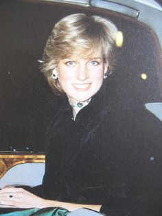 October 28, 1981: Princess Diana at a gala concert at Brangwen Hall Swansea in Wales.