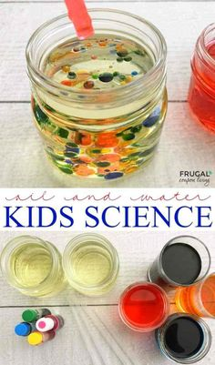 5 Minute Science Experiments for Kids Kid Experiments At Home, Water Science Experiments, Science Experiments For Preschoolers, Science Fair Projects, Science For Kids, Science Fun, Summer Science, Physical Science, Science Education