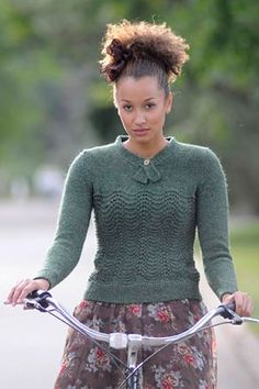 Love the look of this knitted sweater