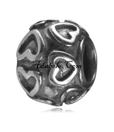 This beautiful .925 Sterling Silver European charm fits Pandora, Biagi Trollbeads, Chamilia, and most charm bracelets find out more at adabele.com