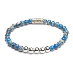 Rebel and Rose More Balls than Most Universe Blue Silver Armband RR-40029-S € 45,00