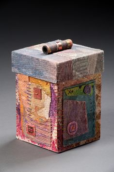 Stitched Box by Claudia Lee, instructor at John C. Campbell Folk School | folkschool.org