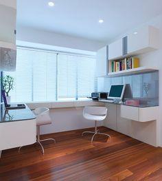 Classy study room interior design in singapore m3 design studio | Cozy ...