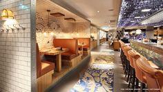 Griffins Steakhouse Stockholm Sweden, block floor, photographer: Erik Nissen Johansen, Architecht: Stylt Trampoli