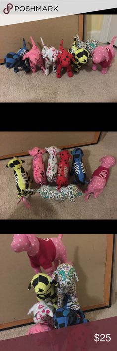 Pink Victoria Secret Doggies 🐶 7 Pink By Victoria Secret Doggies. I have more around this house, maybe boxed up I will be adding I kind did something interesting with this  listing 🤔 I will sell individuals or you can choose to bundle for best price. PINK Victoria's Secret Accessories