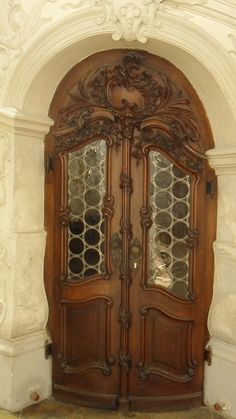 Carved entry door