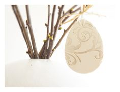 Easter stamped clay ornament