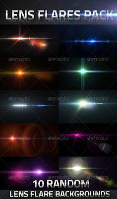 10 Lens Flares Pack  #GraphicRiver         Total 10 Custom Lens Flares Transparency Included High Resolution (6000×3375) pixel Useful for any Design .PSD and .PNG Files with Layers   	 For Other items please check out my portfolio..     Created: 2July13 GraphicsFilesIncluded: PhotoshopPSD #TransparentPNG HighResolution: Yes Layered: Yes MinimumAdobeCSVersion: CS PixelDimensions: 6000x3375 PrintDimensions: 83x46 Tags: abstract #background #blue #color #colour #creative #custom #design #effect…