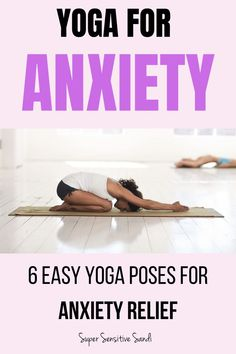 Yoga for Anxiety Relief – 6 Easy Yoga Poses Yoga for Anxiety: How effective is yoga for relieving anxiety? 6 easy yoga for beginners poses to relieve stress and anxiety, suitable for a busy life! Yoga Meditation, Meditation For Anxiety, Yoga Flow, Yin Yoga, Easy Yoga For Beginners, Meditation For Beginners, Anxiety Relief, Stress And Anxiety, Yoga Exercises