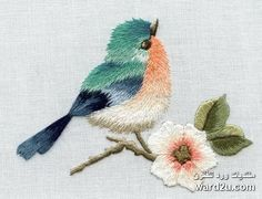 Vintage Embroidery Designs Lesson In Needlepainting Little Bird Crewel Embroidery Kits, Hardanger Embroidery, Hand Embroidery Patterns, Ribbon Embroidery, Cross Stitch Embroidery, Machine Embroidery, Geometric Embroidery, Embroidery Supplies, Pdf Patterns