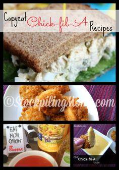 Copycat Chick-fil-A Recipes are amazing! #kids #recipes #chickfila  http://www.stockpilingmoms.com/2014/07/chick-fil-a-copycat-recipes/