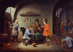 David Teniers the Younger. 'Gambling Scene'- though only the landlord looks happy!