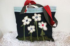 Jeans bag, Dark blue denim bags, Recycled bags, Flowers bags, Upcycled handbags, Handmade denim bag, Boho bag, Hippie bag, Jeans summer bag