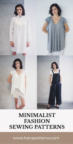 NEW Modern Sewing Patterns for Women | Minimalist, chic and understated - Hana Patterns is a fresh new experience in sewing patterns. www.hanapatterns.com