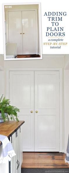 How to Add Trim to Doors