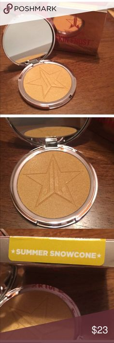 Summer Snowcone Jeffree Star Skin Frost! Brand new, never used and in original box. 100% Authentic from Jeffree Star Cosmetics! Stunning highlighter in the color Snowcone. Jeffree Star Makeup Luminizer