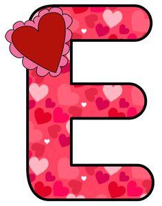 CH B *✿* ALFABETO CORAZON DE KID SPARKZ Cute Alphabet, Alphabet Print, Alphabet Design, Alphabet And Numbers, Monogramm Alphabet, Classroom Labels, Abc For Kids, Alphabet Activities, Valentine Heart