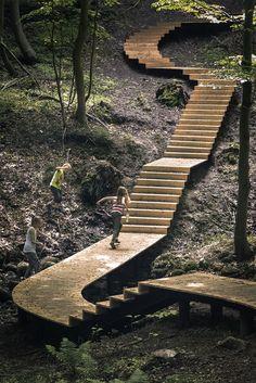 Landscape Plaza, Landscape Stairs, Landscape Materials, Landscape Design, Garden Design, Water Architecture, Sustainable Architecture, Modern Landscaping, Backyard Landscaping
