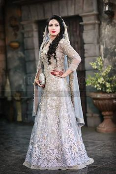 bridal pakistani dresses beige - Google Search